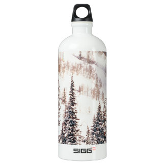 Winter The Calm Before The Storm Brighton Utah Water Bottle