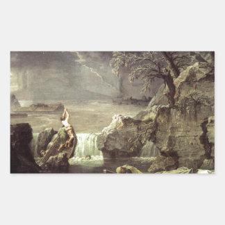 Winter (The Flood) by Nicolas Poussin Rectangular Sticker