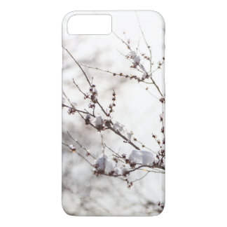 Winter Theme. Plants Covered Snow Background iPhone 8 Plus/7 Plus Case