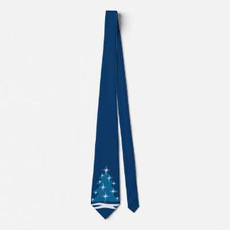 Winter Tie Blue Christmas Tree Festive Holiday Tie