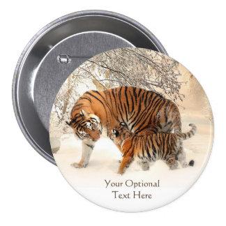 Winter Tigers custom buttons