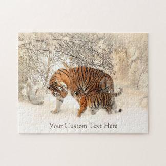 Winter Tigers custom puzzle