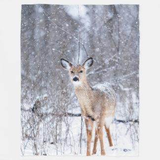 Winter Time Deer Fleece Blanket