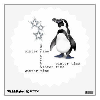 Winter time for penguin room graphics