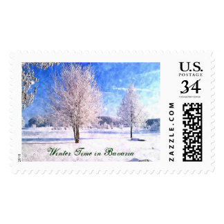 Winter Time in Bavaria Postage