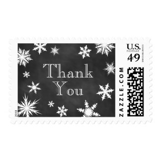 Winter Time to Drink Champagne Thank You Stamp