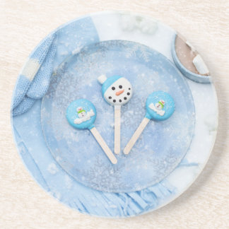 Winter Time Treats and Goodies Drink Coaster