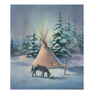 WINTER TIPI by SHARON SHARPE Poster
