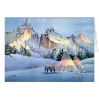 WINTER TIPI CAMP by SHARON SHARPE Cards