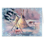 WINTER TIPI FIRE & APPALOOSA by SHARON SHARPE Cards