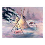 WINTER TIPI FIRE & APPALOOSA by SHARON SHARPE Post Cards
