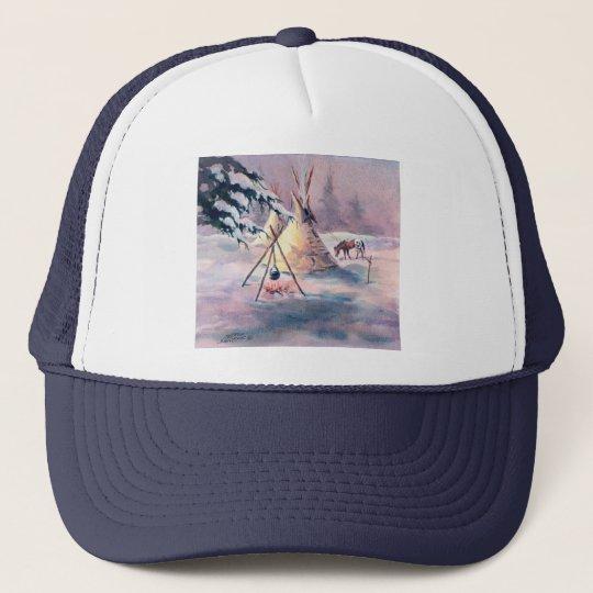 WINTER TIPI FIRE & APPALOOSA by SHARON SHARPE Trucker Hat