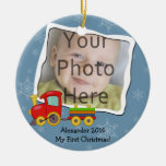 Winter Toy Train Baby or Kids Christmas Ornament