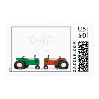 Winter Tractor RSVP Postage