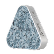 Winter traditional paisley floral blue pattern bluetooth speaker