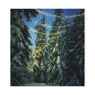 Winter trail canvas print