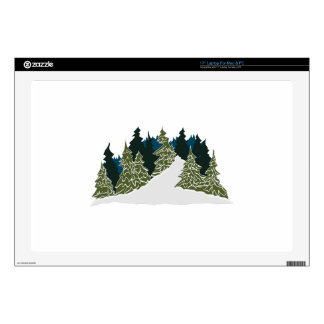 Winter Trail Scene Decals For Laptops