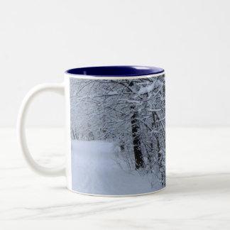 Winter Trail Two-Tone Coffee Mug