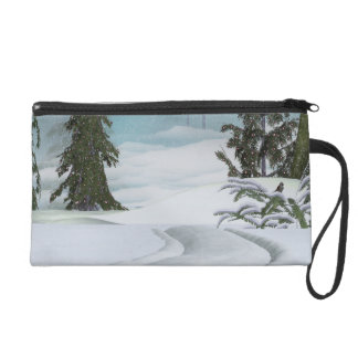 Winter Trail Wristlet Purse