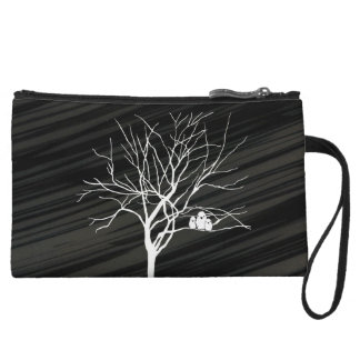 Winter Tree Wristlet Clutches