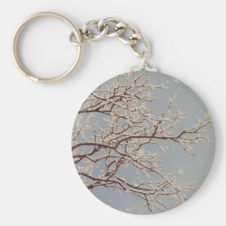 Winter Tree Branches Keychain
