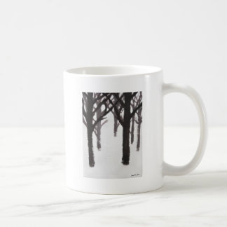 Winter Tree Branches Painting Mugs