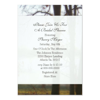 "Winter Tree Bridal Shower Invitations 5"" X 7"" Invitation Card"