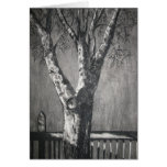 Winter Tree - Charcoal Greeting Card