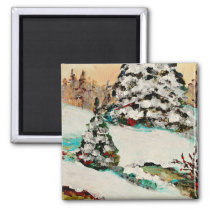 Winter tree, Christmas gift idea, secret Santa Magnet