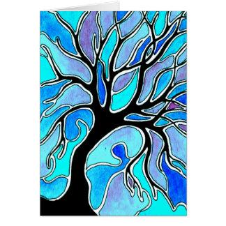 Winter Tree in Blue Card