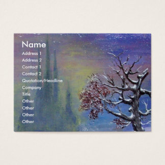 WINTER TREE IN THE SNOW BUSINESS CARD