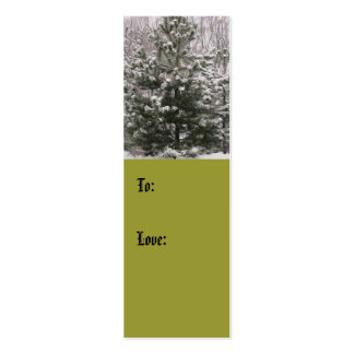 Winter Tree Love Gift Tag (color) Double-Sided Mini Business Cards (Pack Of 20)