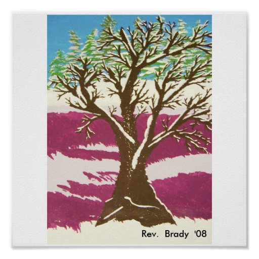 Winter Tree Posters