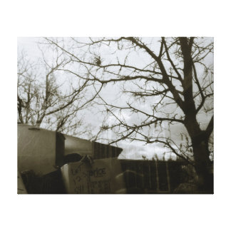 Winter Tree Reflection Gallery Wrapped Canvas
