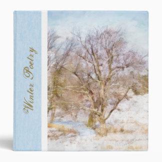 "Winter Tree Scene Art 1.5"" Binder"