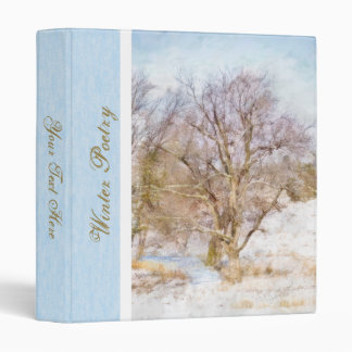 "Winter Tree Scene Art 1"" Binder"