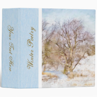 "Winter Tree Scene Art 2"" Binder"