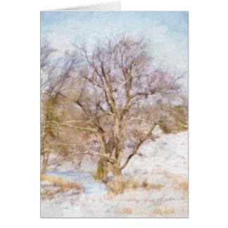 Winter Tree Scene Art Card