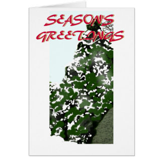 Winter Tree Season's Greetings Card