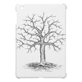 Winter tree sketch ipad case