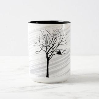 Winter Tree Two-Tone Coffee Mug
