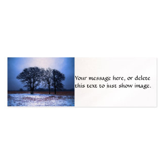 Winter Trees 1 Business Card Template