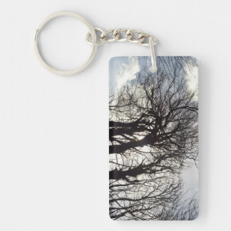 Winter Trees along a Country Lane Cornwall England Keychain