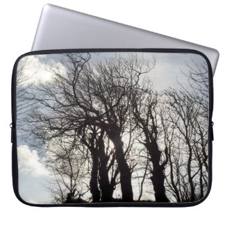 Winter Trees along a Country Lane Cornwall England Laptop Computer Sleeves