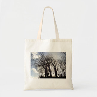 Winter Trees along a Country Lane Cornwall England Tote Bag