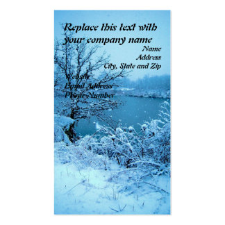 Winter Trees and Lake Double-Sided Standard Business Cards (Pack Of 100)