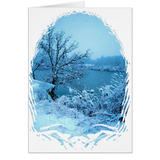 Winter Trees and Lake Card