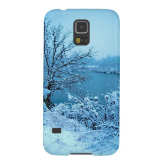 Winter Trees and Lake Galaxy S5 Covers
