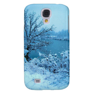 Winter Trees and Lake Galaxy S4 Cases