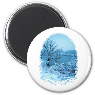 Winter Trees and Lake Fridge Magnets
